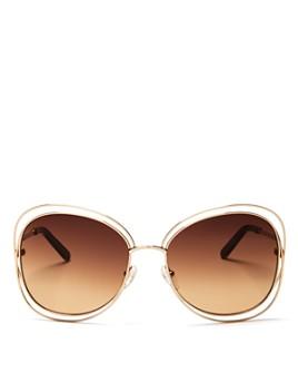 Chloé - Women's Carlina Oversized Round Sunglasses, 60mm