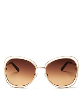 1eb593182e Chloé - Women s Carlina Oversized Round Sunglasses