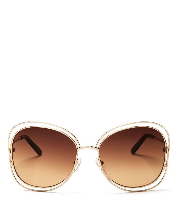 0b06a1367b63 Chloé Women's Carlina Oversized Round Sunglasses, 60mm | Bloomingdale's