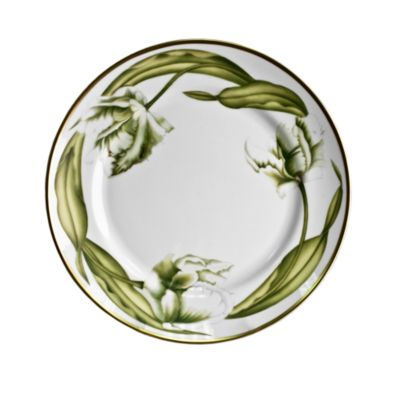White Tulips Salad Plate