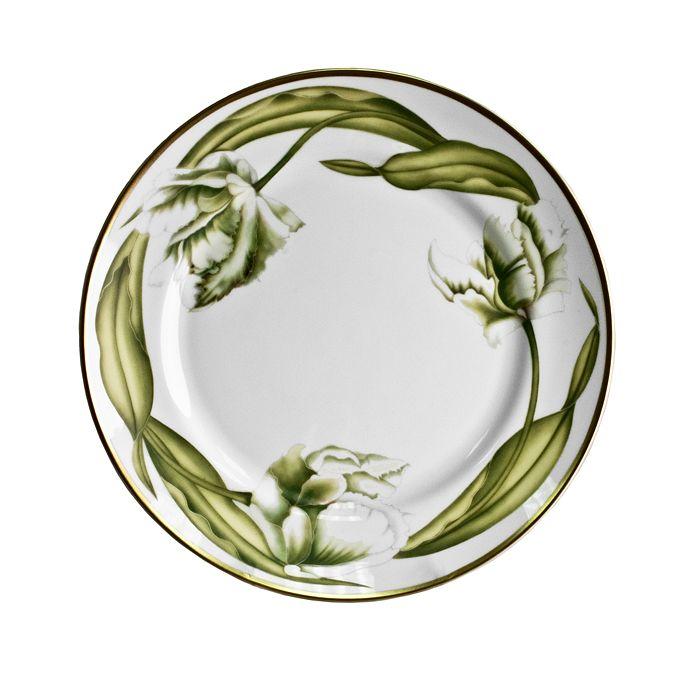 Anna Weatherley - White Tulips Dinner Plate