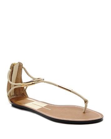 $DV Dolce Vita Flat T-Strap Sandals - Marnie Metal - Bloomingdale's