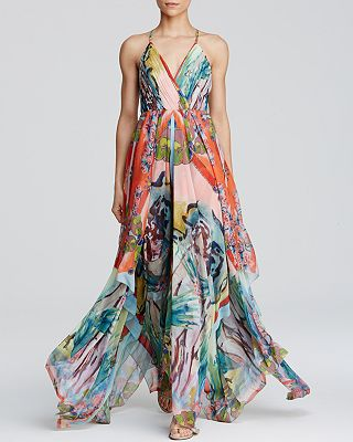 Alice And Olivia Alice Olivia Maxi Dress Orly Handkerchief