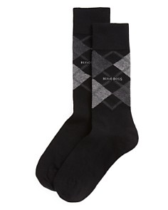 BOSS Hugo Boss Combed Cotton Argyle Socks - Bloomingdale's_0