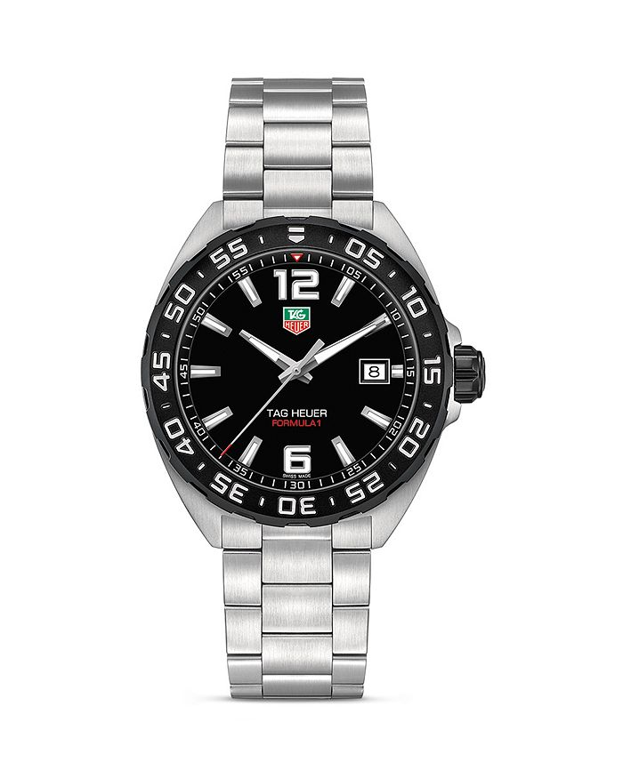 TAG Heuer - Formula 1 Watch with Unidirectional Black Titanium Carbide Bezel, 41mm