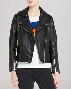 Sandro - Veinarde Leather Biker Jacket