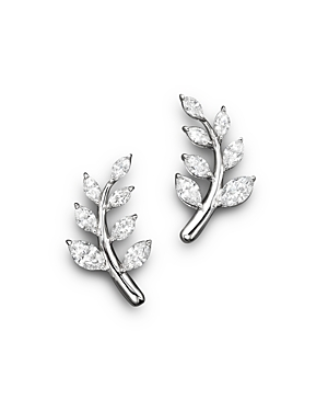 Diamond Leaf Earrings in 14K White Gold, 1.45 ct. t.w. - 100% Exclusive