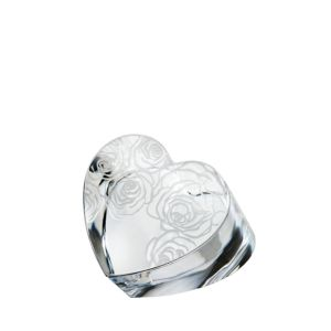 Monique Lhuillier Waterford My Favorite Things Sunday Rose Heart Paperweight