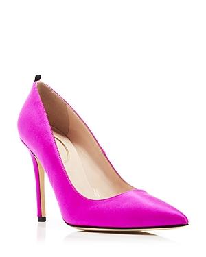 Sjp by Sarah Jessica Parker Fawn Satin High Heel Pumps