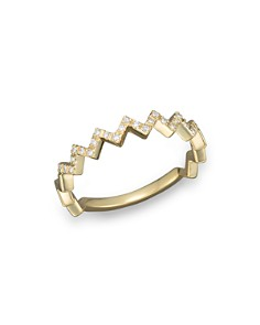Bloomingdale's - Diamond Zigzag Ring in 14K Yellow Gold, 0.10 ct. t.w. - 100% Exclusive