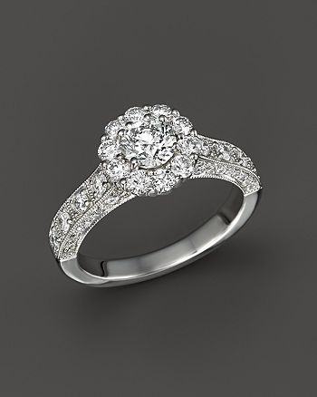 Bloomingdale's - Diamond Engagement Ring in 14K White Gold, 1.50 ct. t.w.- 100% Exclusive