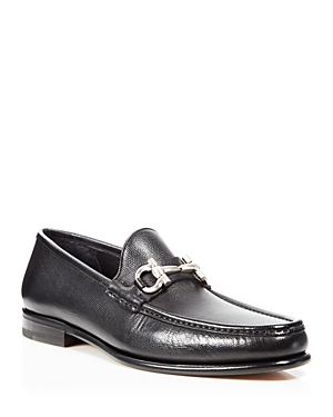 Salvatore Ferragamo Mason Saddle Pebble Loafers