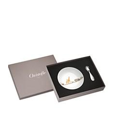 Christofle - Savanne Bowl & Spoon Set