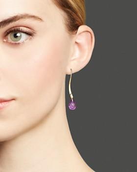 Bloomingdale's - 14K Yellow Gold and Amethyst Twist Drop Earrings - 100% Exclusive