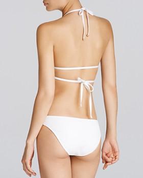 Vitamin A - Serra White Crochet Bikini Top & Neutra White Crochet Bikini Bottom
