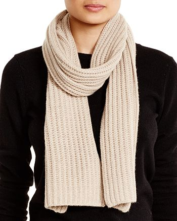 C by Bloomingdale's - Ribbed Cashmere Scarf - 100% Exclusive