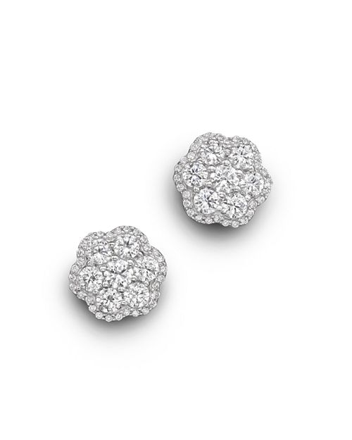 Bloomingdale's - Diamond Flower Cluster Stud Earrings in 14K White Gold, 2.25 ct. t.w.- 100% Exclusive