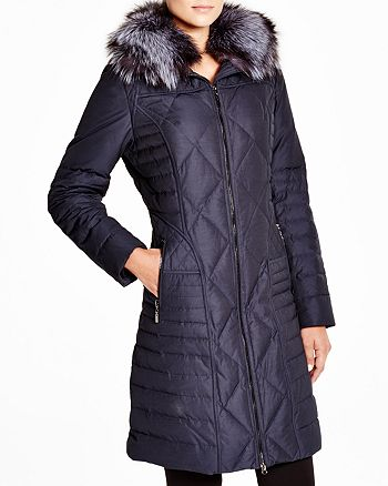 Maximilian Furs - Down Coat with Fox Collar