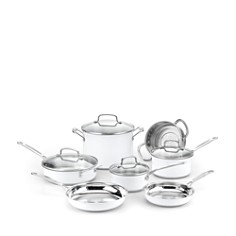Cuisinart 11-Piece Chef's Classic Cookware Set, Stainless Steel & White - 100% Exclusive - Bloomingdale's_0