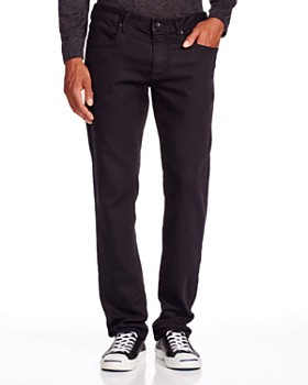 John Varvatos Star USA - Bowery Straight Fit Jeans in Black