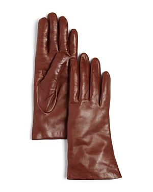 Bloomingdale's Short Cashmere Lined Leather Gloves - 100% Exclusive