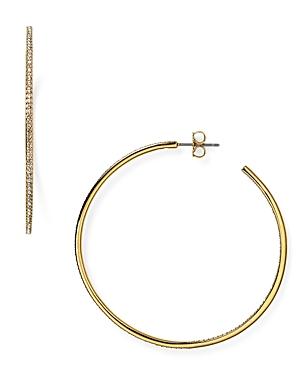 Nadri Pave Hoop Earrings