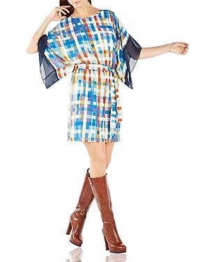 Bcbgmaxazria Lois Plaid Print Kimono Dress