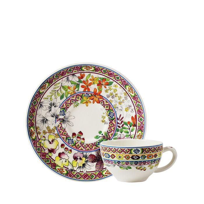 Gien France - Bagatelle Teacup & Saucer