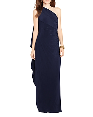 Lauren Ralph Lauren One Shoulder Jersey Gown