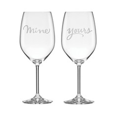 kate spade new york Two Of A Kind Yours & Mine Wine Glass, Set of 2 - Bloomingdale's_0