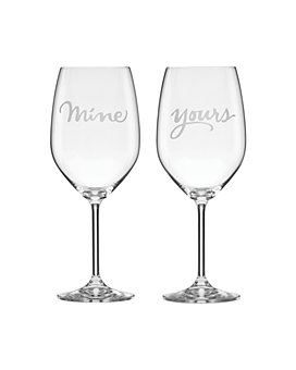 kate spade new york - Two Of A Kind Yours & Mine Wine Glass, Set of 2