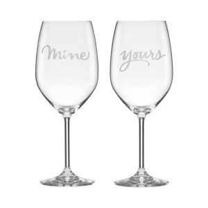 kate spade new york Two Of A Kind Yours & Mine Wine Glass, Set of 2