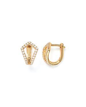 Dana Rebecca Designs Sarah Leah Diamond Huggie Earrings
