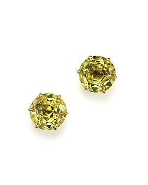 Ippolita 18K Gold Rock Candy Medium Round Stud Earrings in Green-Gold Citrine