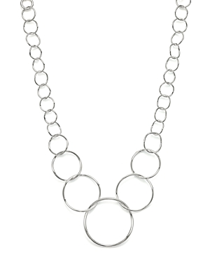Ippolita Sterling Silver Glamazon Graduated Wavy Circles Necklace, 16