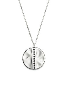 IPPOLITA - IPPOLITA Sterling Silver Glamazon® Stardust Large Station Disc Pendant Necklace with Diamonds, 16""
