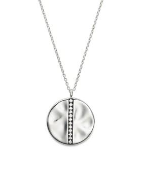 "IPPOLITA - IPPOLITA Sterling Silver Glamazon® Stardust Large Station Disc Pendant Necklace with Diamonds, 16"""