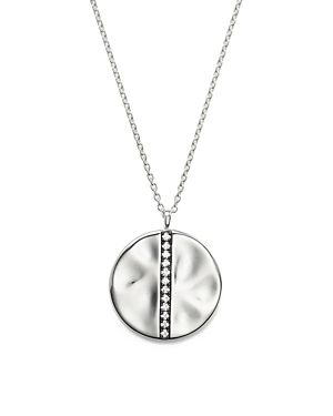 Ippolita Sterling Silver Glamazon Stardust Large Station Disc Pendant Necklace with Diamonds, 16
