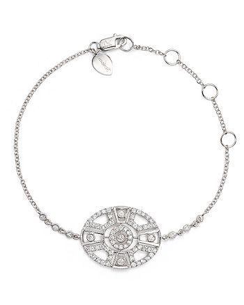 Meira T - 14K White Gold Antique Diamond Bracelet