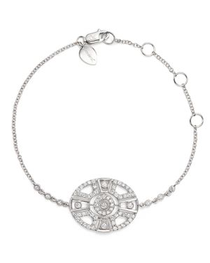 Meira T 14K White Gold Antique Diamond Bracelet