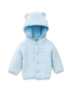Little Me - Boys' Striped Hooded Cardigan - Baby