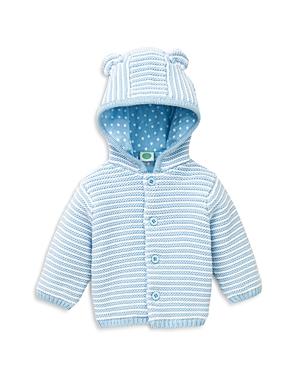 Little Me Boys Stripe Hooded Cardigan  Baby