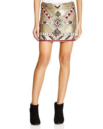 Alice and Olivia - Elana Embellished Mini Skirt
