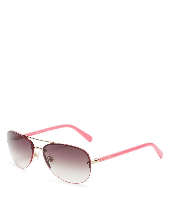 b983c2e5d kate spade new york - Women's Beryl Brow Bar Rimless Round Sunglasses, ...