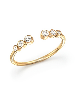 Diamond Bezel Ring in 14K Yellow Gold, .20 ct. t.w. - 100% Exclusive