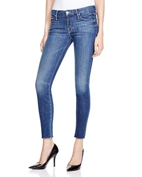 6150f46df005c MOTHER - The Looker Ankle Fray Skinny Jeans in Girl Crush ...