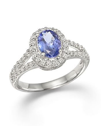 Bloomingdale's - Tanzanite and Diamond Ring in 14K White Gold- 100% Exclusive