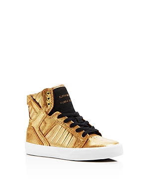 1ce7a4ec4d ... High-Top Casual Sneakers from UPC 888612138751 product image for Supra  Boys' Metallic Skytop Sneakers - Toddler, ...
