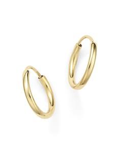 Bloomingdale's - 14K Yellow Gold Small Endless Hoop Earrings - 100% Exclusive