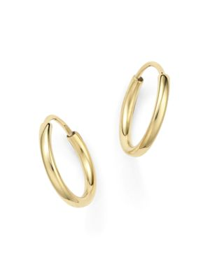 14K Yellow Gold Small Endless Hoop Earrings - 100% Exclusive